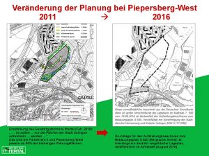 Veränderung Planung Piepersberg-West