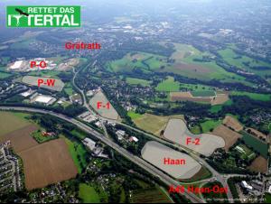 Oberes Ittertal mit geplanten Gewerbegebieten Foto: Matthias Kunde solingen-von-oben.de