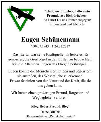 Nachruf-Eugen-Zeitungsanzeige