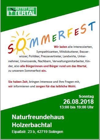 Sommerfest am So. 26.08.2018 im Naturfreundehaus Holzerbachtal