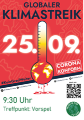 Plakat Globaler Klimastreik