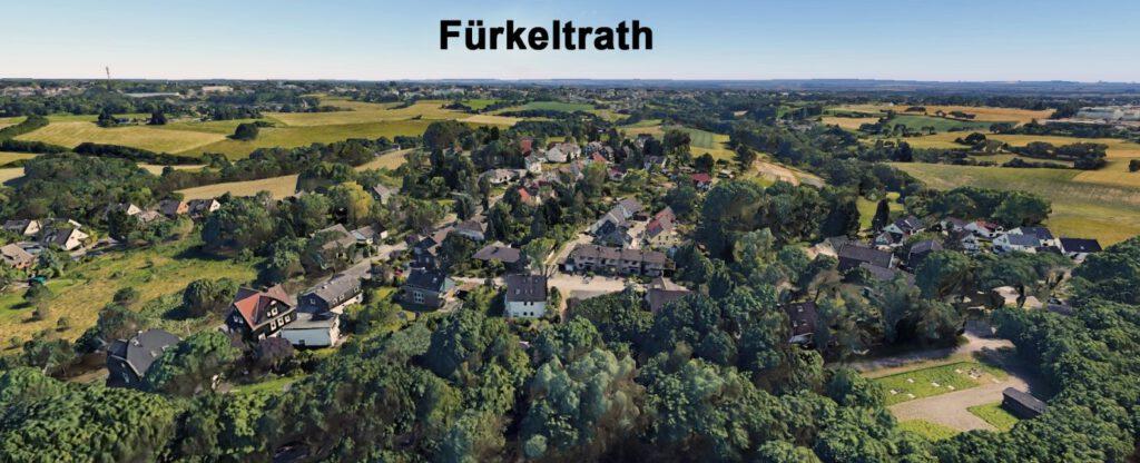 Luftaufnahme: Blick vom Wuppertaler Westring auf Fürkeltrath (Quelle leider Unbekannt, ca. 2020)