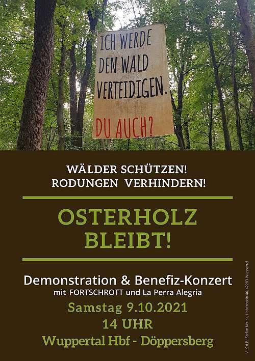 Wälder schützen! Rodungen verhindern! Osterholz bleibt! – NRW-weite Demo
